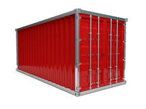 Red Container Stock Photo
