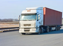 Red container truck Stock Image