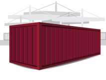 Red Container Vector Illustration Royalty Free Stock Photography