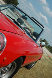 Red Convertible. Red Alfa Romeo convertible car / automobile stock photos