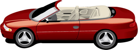Red convertible cirrus Royalty Free Stock Image