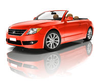 Red Convertible. 3D generated red convertible car vector illustration