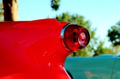 Red convertible rear right side Royalty Free Stock Photo