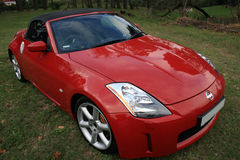 Red convertible sports car Stock Photos