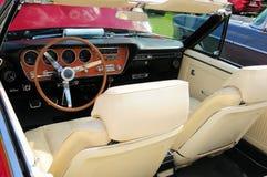 Red convertible sports car interior Royalty Free Stock Photos