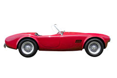 Red convertible sports car isolated royalty free stock photo