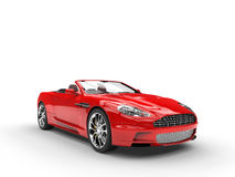 Red convertible sports car - studio beauty shot Royalty Free Stock Images