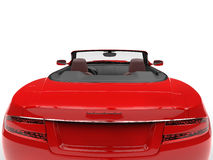 Red convertible sports car - tail extreme closeup Stock Images