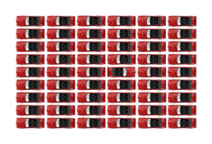 Red convertibles in rows Royalty Free Stock Photos