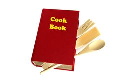 Red cook book isolated Stock Photography
