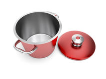Red cooking pot Stock Image