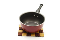 Red Cooking Pot with handle Stock Photos