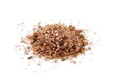 Red copper shavings Stock Photo