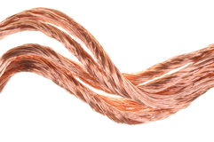 Red copper wire component for industry Stock Images