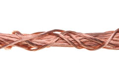 Red copper wire component for industry Royalty Free Stock Photography