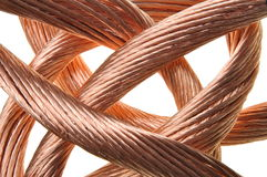 Red copper wire industry. Isolated on white background Royalty Free Stock Images