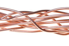 Red copper wire industry Royalty Free Stock Photo