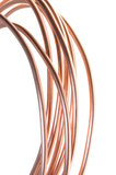 Red copper wire industry Royalty Free Stock Photos