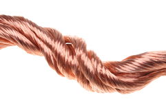 Red copper wire industry Stock Image