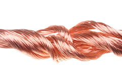 Red copper wire industry Stock Photos