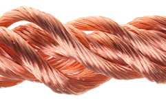Red copper wire industry Stock Photography