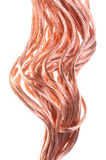 Red copper wires concept of energy power Stock Photo