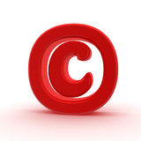 Red copyright sign Stock Images