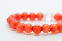 Red coral beads Royalty Free Stock Photo