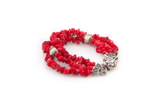 Red coral bracelet Royalty Free Stock Photography