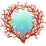 Red coral frame Stock Image