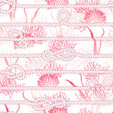 Red coral and marine rope seamless vector print Stock Photo