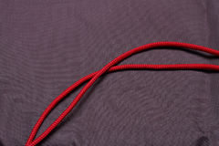Red cord. Stock Images