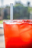 Red cordial drink Royalty Free Stock Photos