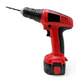 Red Cordless Drill Royalty Free Stock Photo