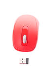 Red cordless mouse for PC Royalty Free Stock Image
