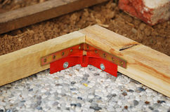 Red Corner Clamp with Corner Bracket Royalty Free Stock Photo