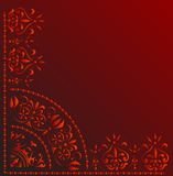 Red corner decoration Stock Images