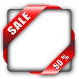 Red corner ribbon Royalty Free Stock Photo