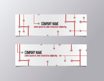 Red corporate banner identity template. Metro company business banner vector. Royalty Free Stock Photos