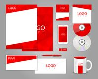 Red corporate identity template Royalty Free Stock Photography