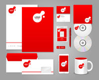 Red corporate identity template Stock Image