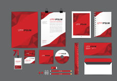 Red corporate identity template  for your business Royalty Free Stock Photo