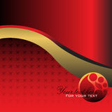 Red corporate template Stock Photography