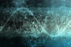 Red corporativa abstracta azul del Internet de los datos libre illustration