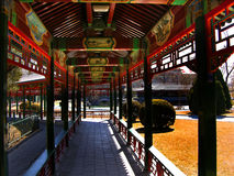 Red Correidor, Zhongshan Park, Beijing China. Red Correidor, Public Zhongshan Park, Beijing, China Stock Images