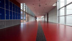 Red corridor Stock Photos