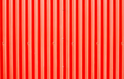 Red corrugated metal Stock Image