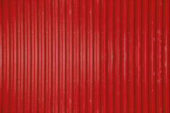 Red corrugated metal sheet texture background Stock Photos