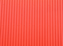 Red corrugated metal texture Stock Photos
