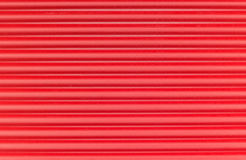 Red corrugated plastic Stock Images